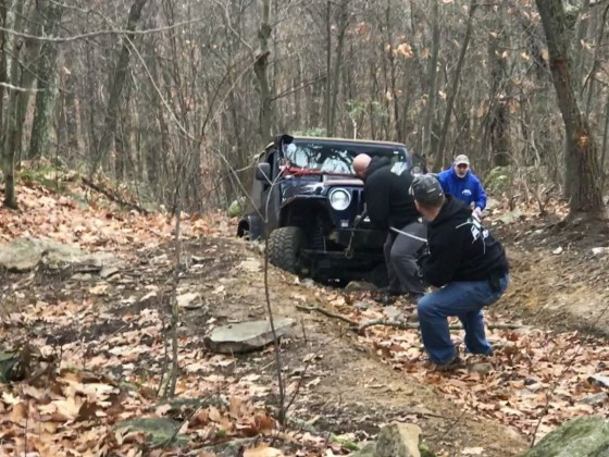 pulling winch line
